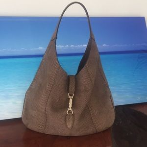 Gucci limited edition phython Jackie O hobo